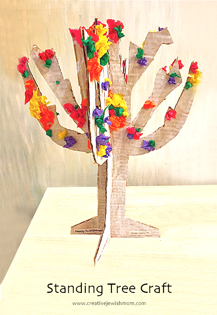 Kid's Tree Craft For Tu B'Shevat