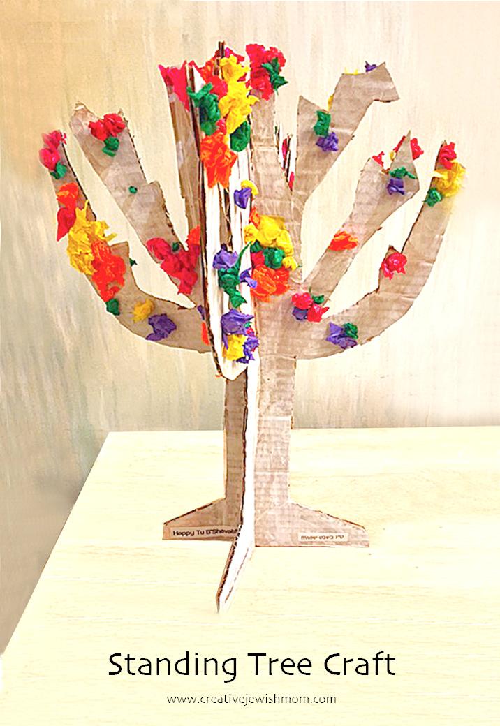 Kid's Tree Craft For Tu B'Shevat