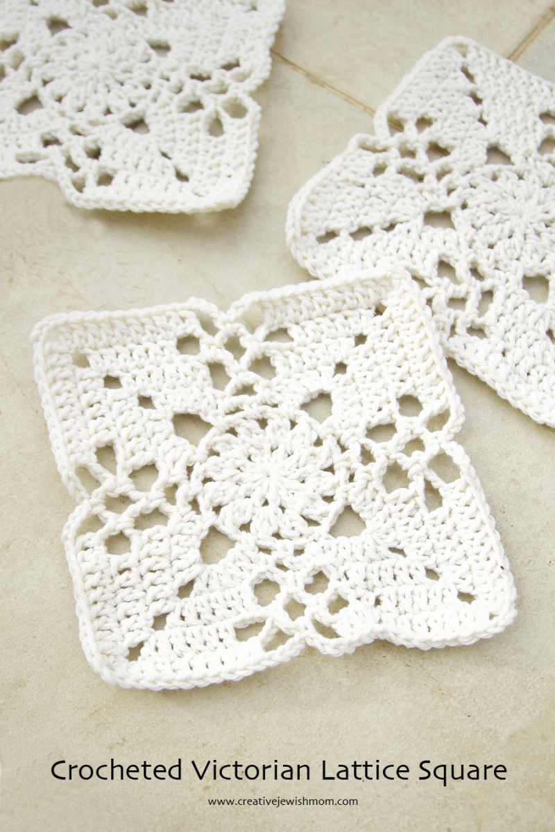 Crocheted Victorian Lace Square
