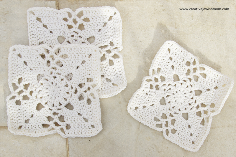 Crocheted Victorian Lattice squares