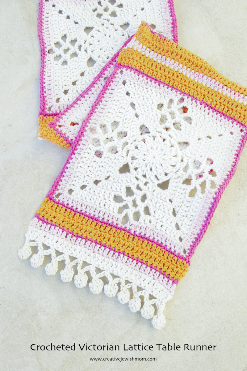 Crocheted Victorian Lattice Table Runner