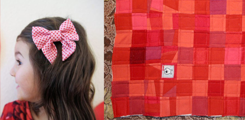 Mini memory quilt,DIY sailor bow