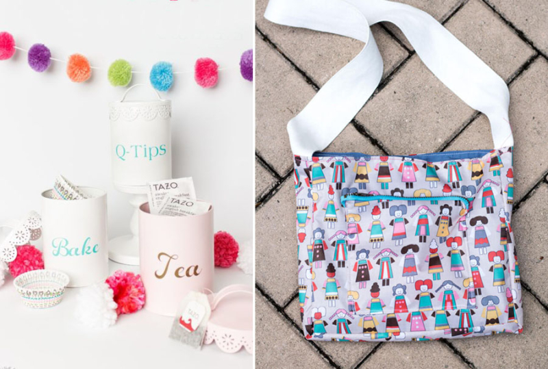 DIY messenger bag pattern for kids,cannisters with words