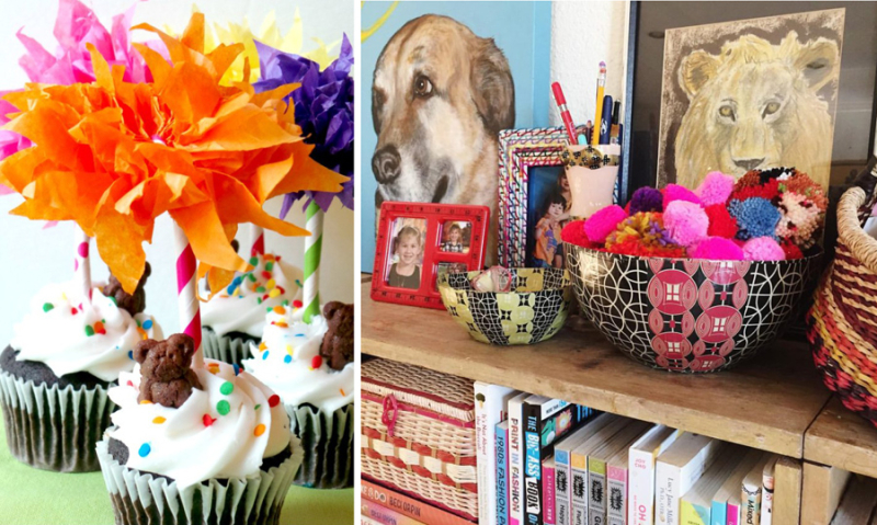 Dr. Suess cupcakes and artful craft storage