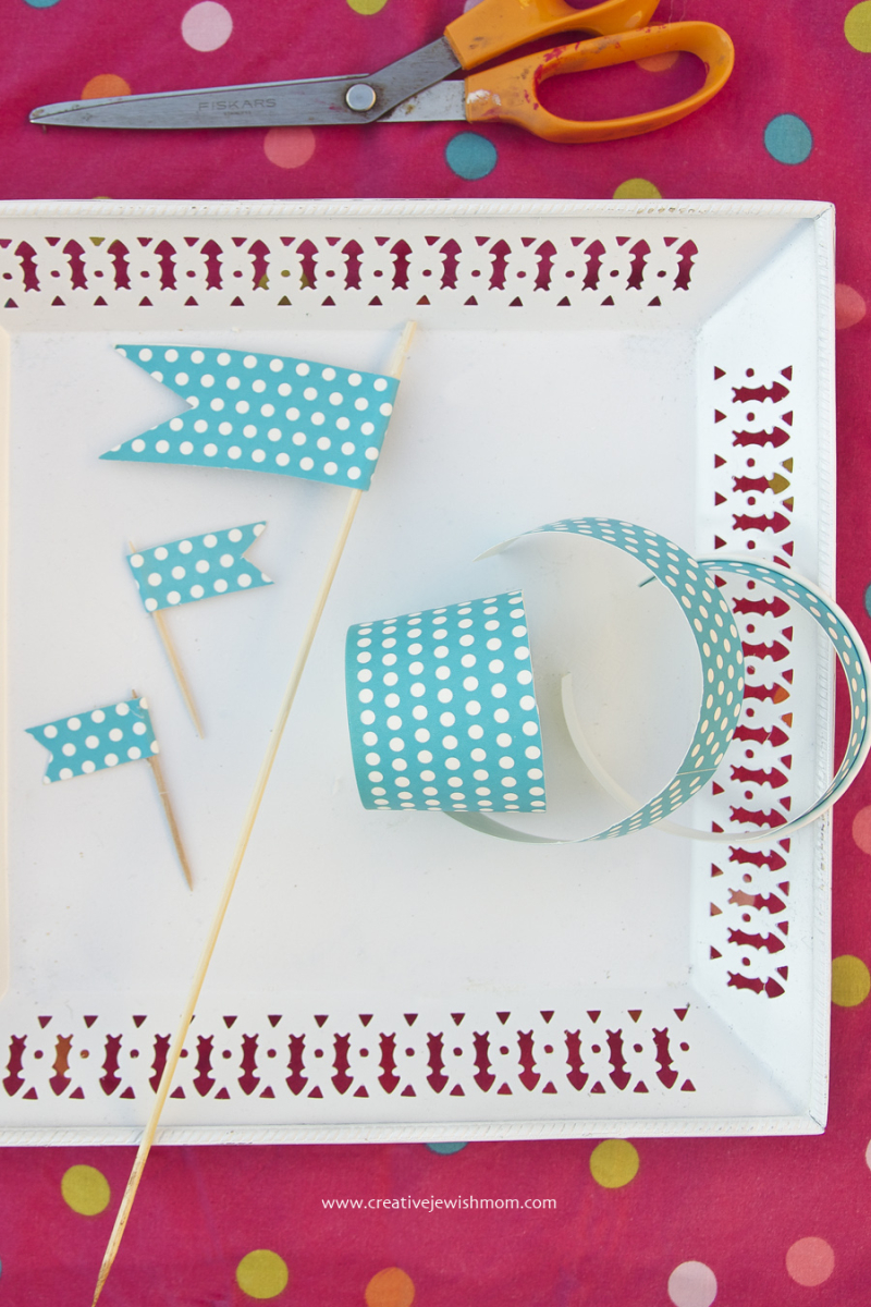 Paper Cup Flags How To