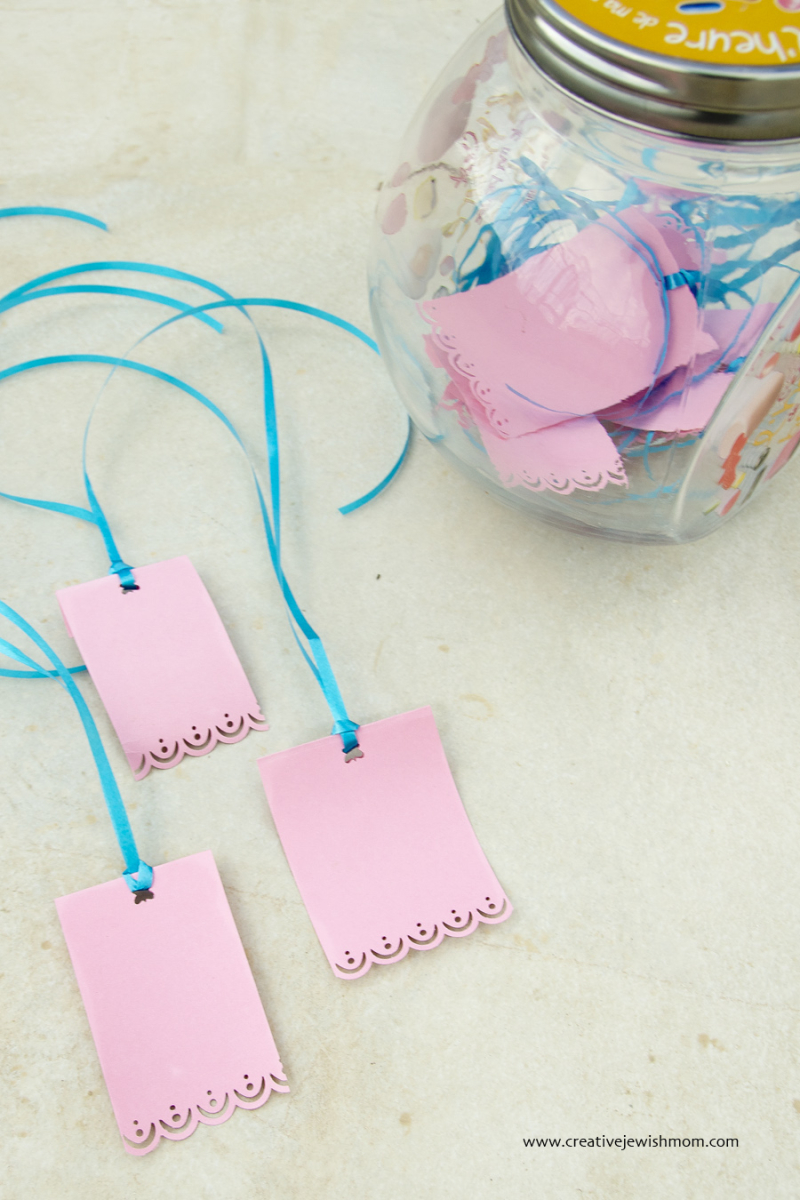 Simple DIY gift tags with punched edge