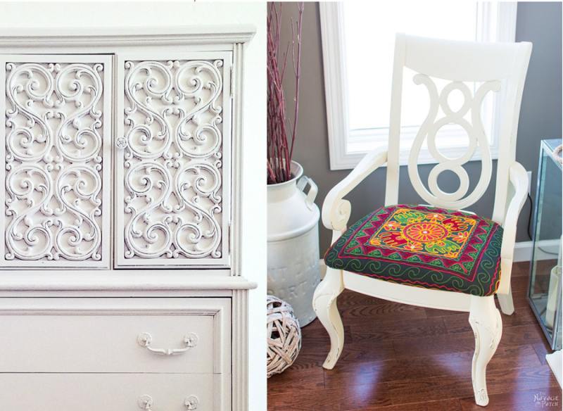 Milk paint tips for refurnishing  chair makeover