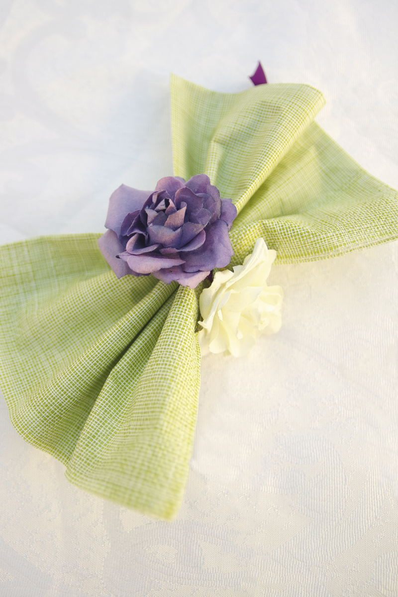 Flower and Ribbon Napkin Rings