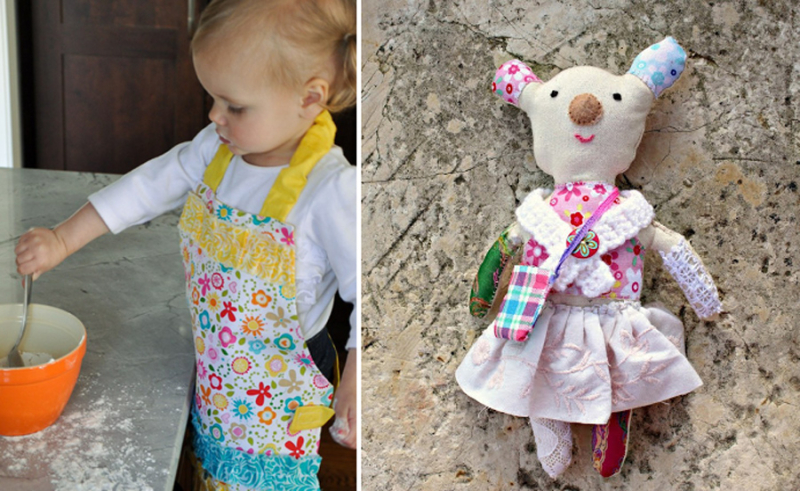 Kids apron stuffed millicent