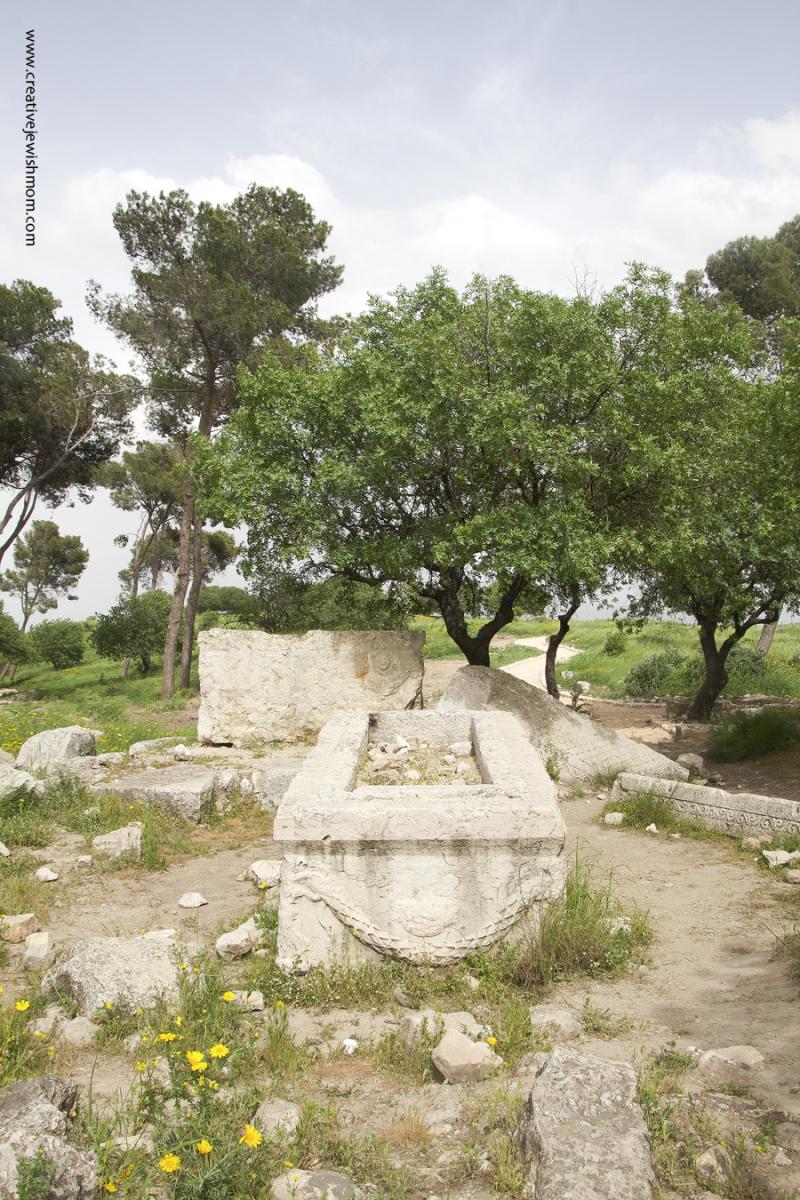 Devorah The Prophetess Burial Site With roman sarcophagus