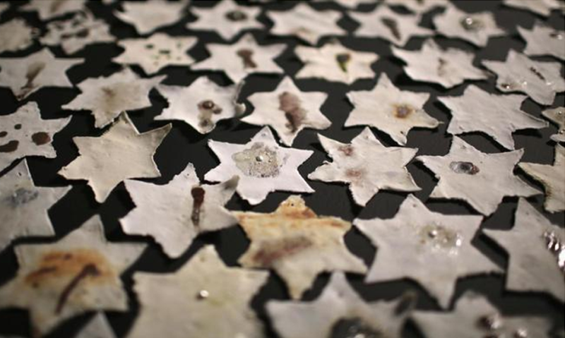 Collage Of Jewish Stars To Remember Holocaust