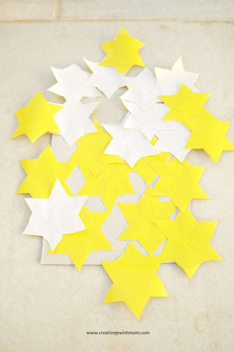 Holocaust Remembrance craft with Jewish stars