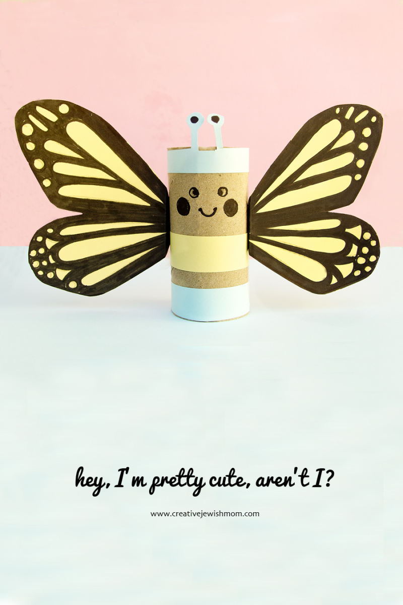 TP tube butterfly craft for kids