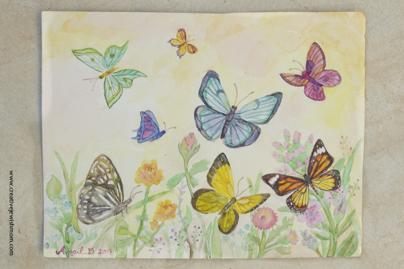 Watercolor Butterflies Painting exercise