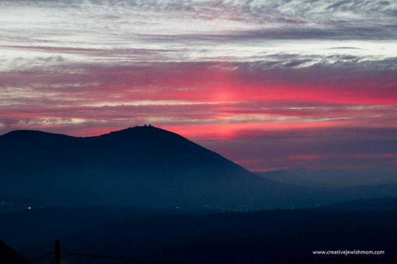 Sunset over Meron