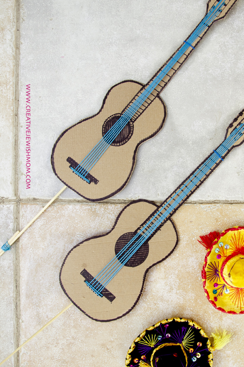 Guitar Birthday Party Vase Centerpiece