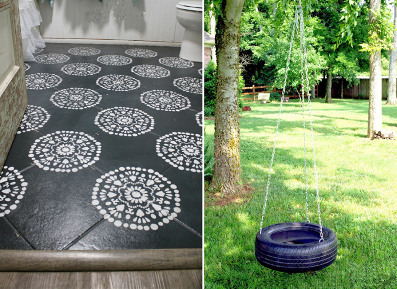 DIY tire swing how to paint bathroom floor tiles