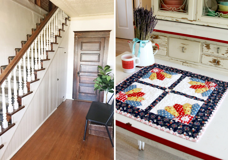 Mini gingham quilt how to paint stair rail spindles