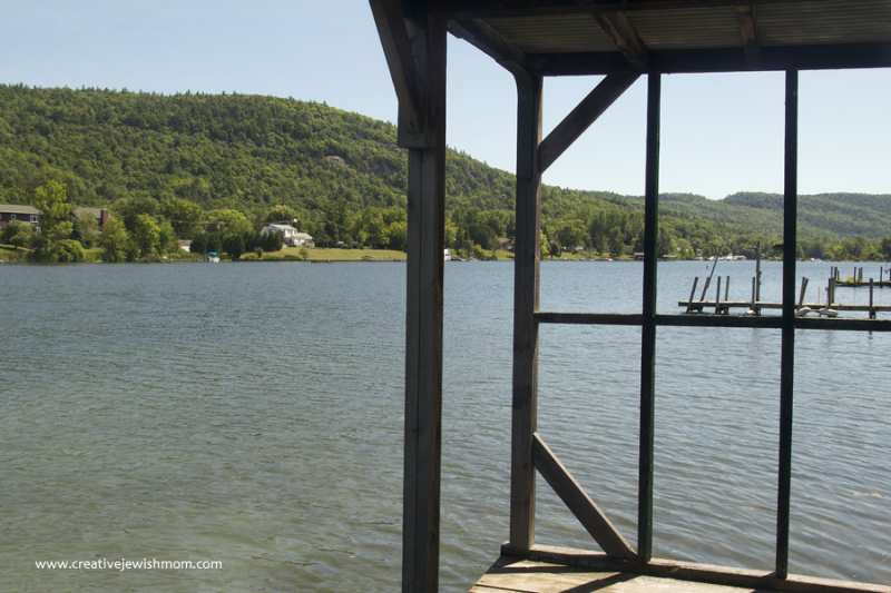 Lake George Northern Tip Covered Dock