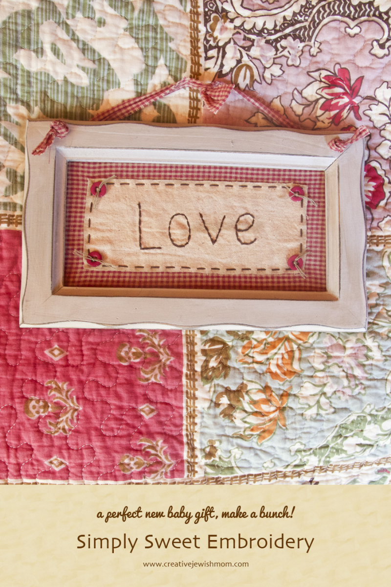 Embroidered Country style Love picture