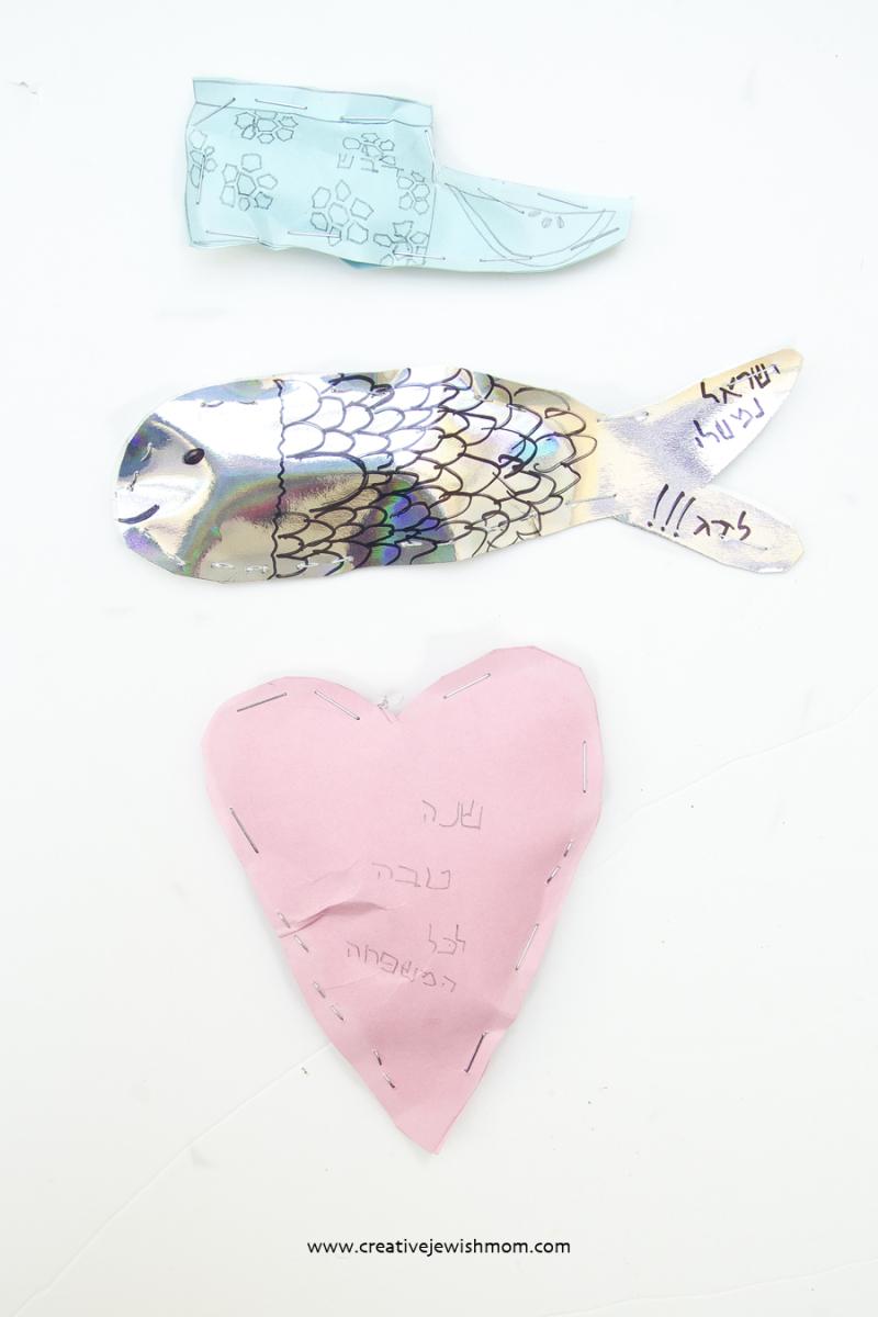 Rosh HaShana kid's stuffed shapes craft