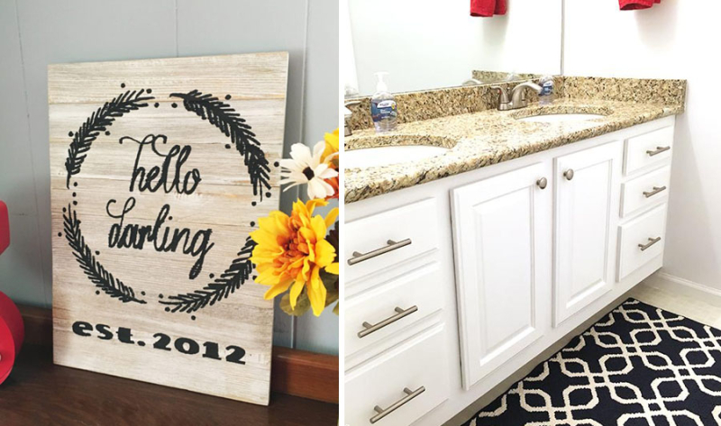 How to paint bathroom cabinets hello darling sign