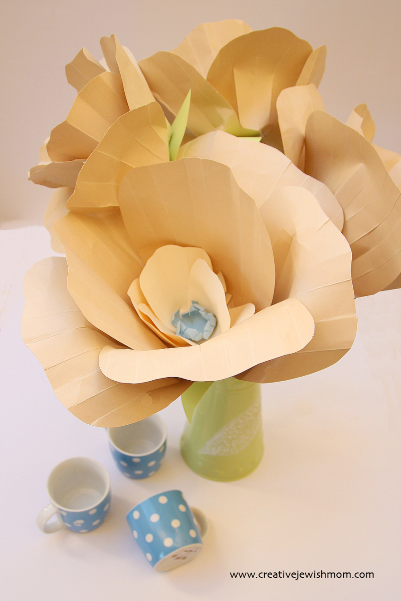 Giant Paper Poppies For Fall Neutral colors