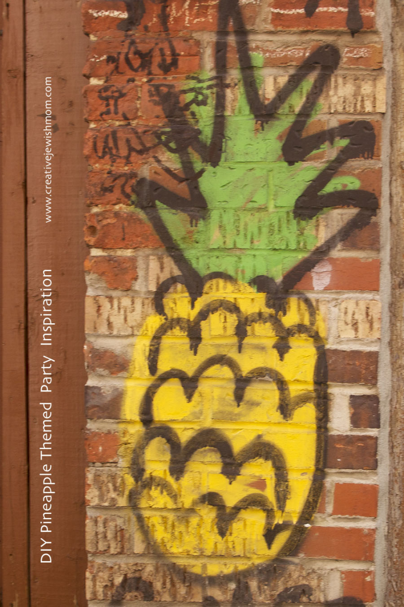 DIY Graffiti Pineapple Party Decorations