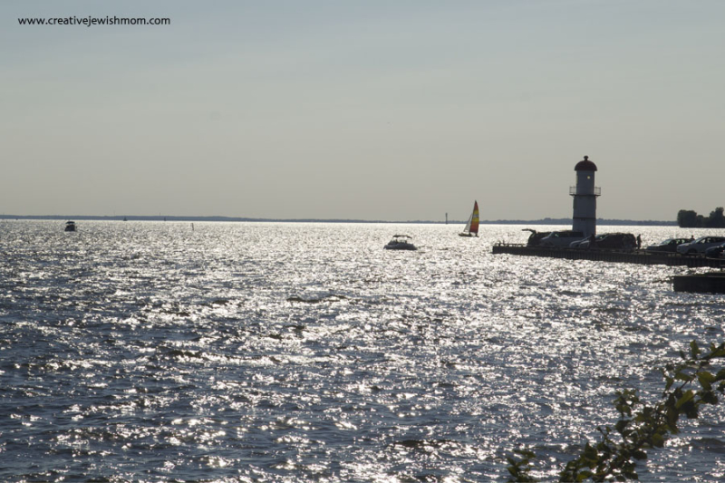 Montreal Lachine Lighthouse with boats