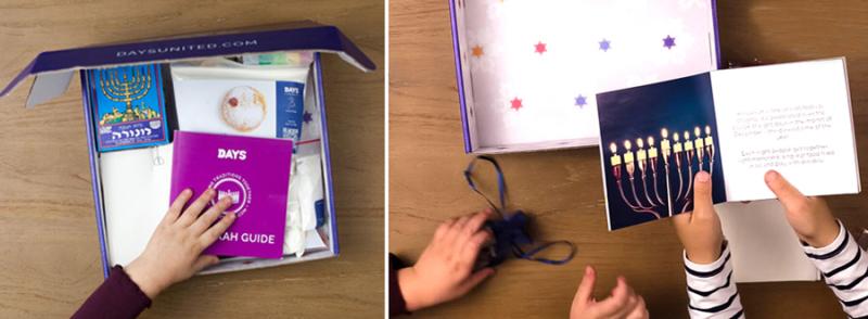 Days Hanukkah box learning about hanukkah