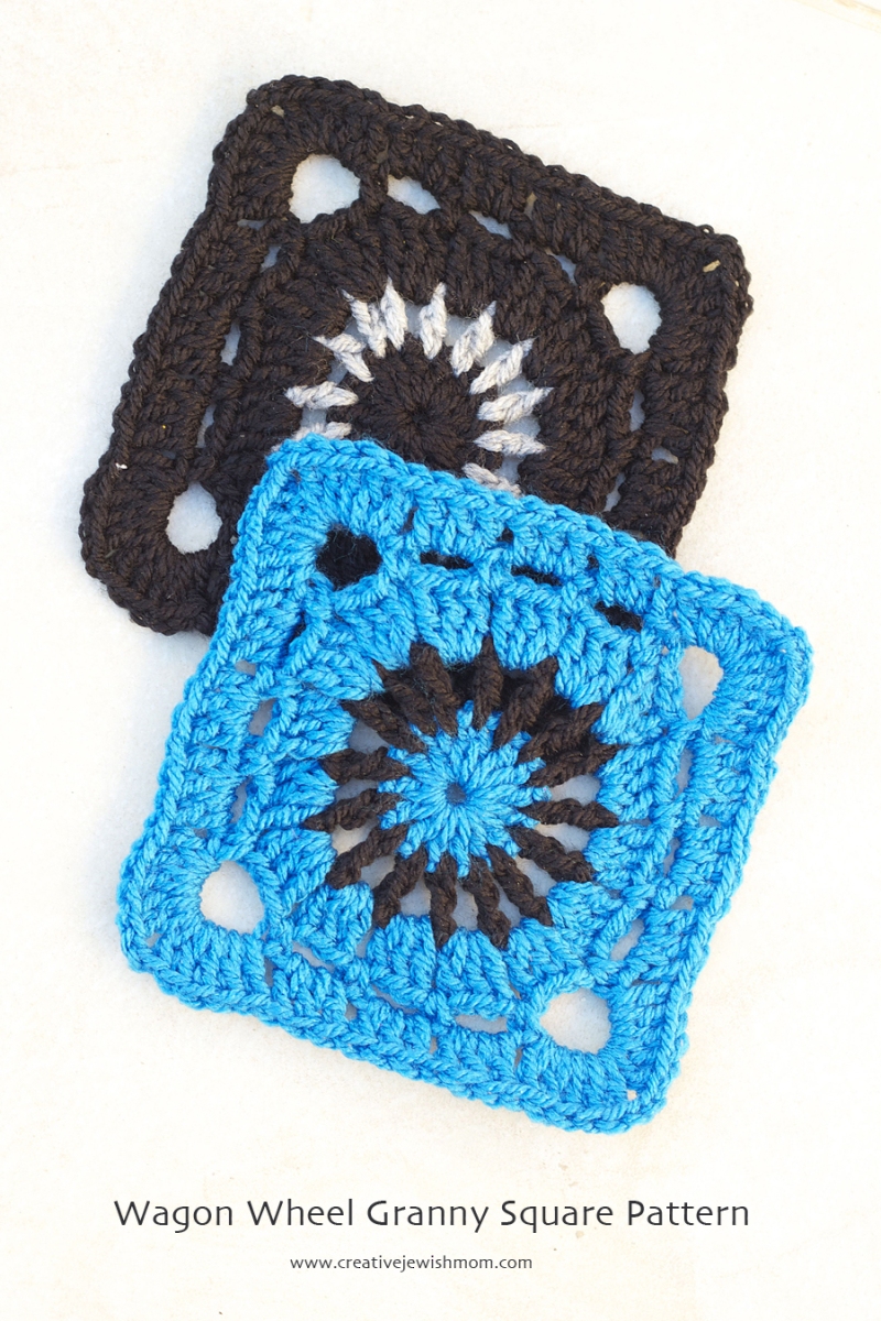 Crocheted Wagon Wheel Granny square pattern