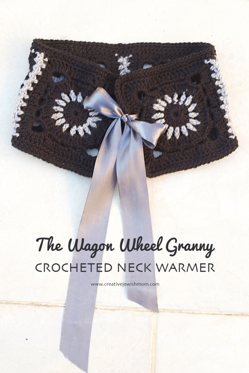 Crocheted Wagon Wheel Granny Neck Warmer