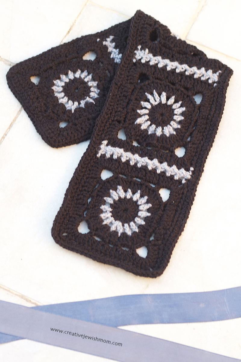 Crocheted Wagon Wheel Granny Neck Warmer