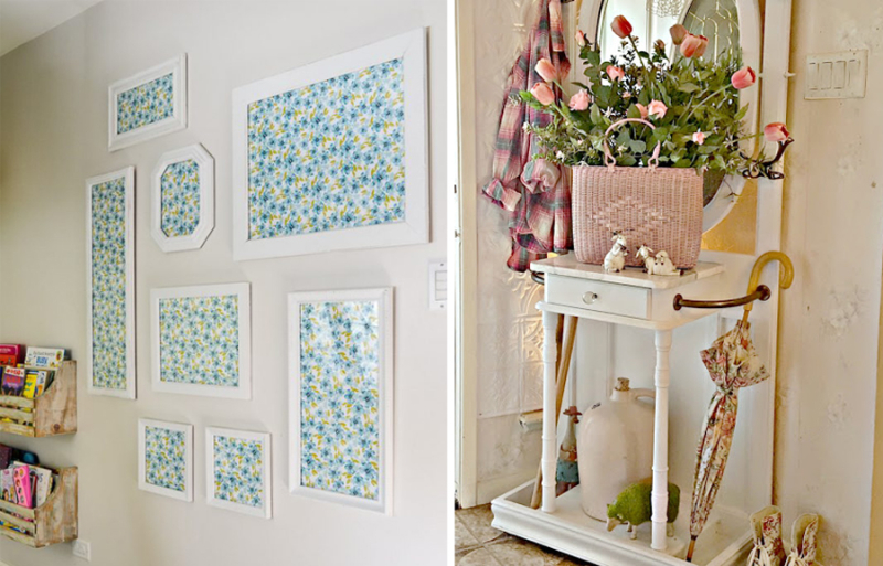 Thrift store frames gallery wall hall butler painted