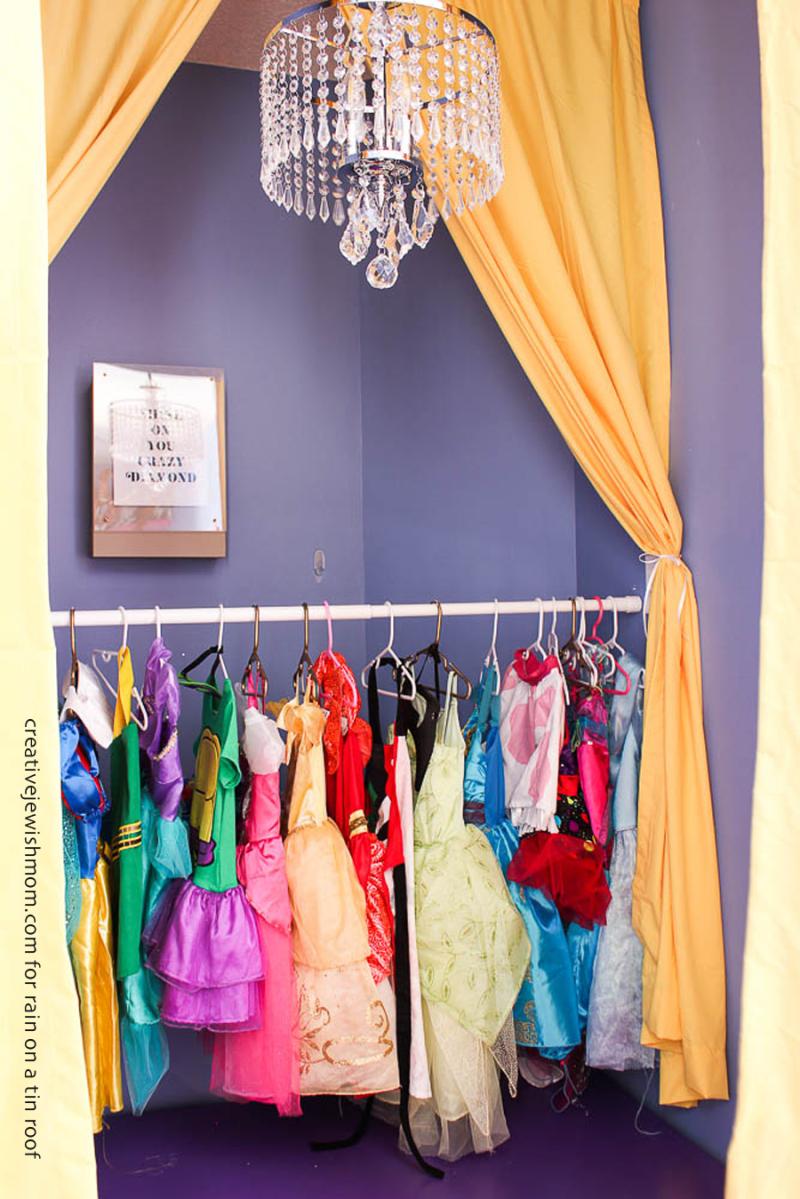DIY Kids Stage with costume rack