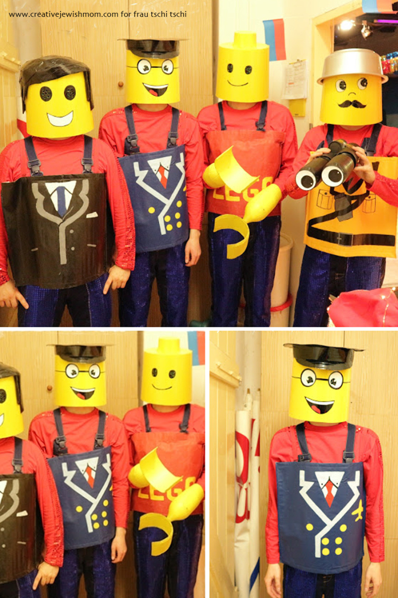DIY lego man costume for a group