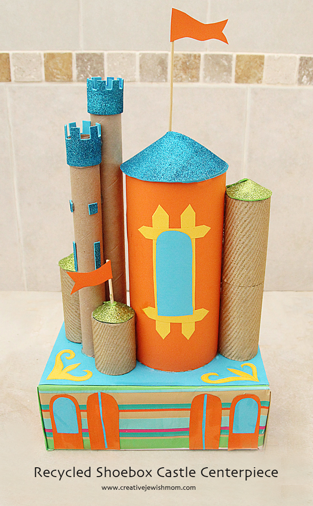 DIY Castle Recycling craft with cardboard tubes