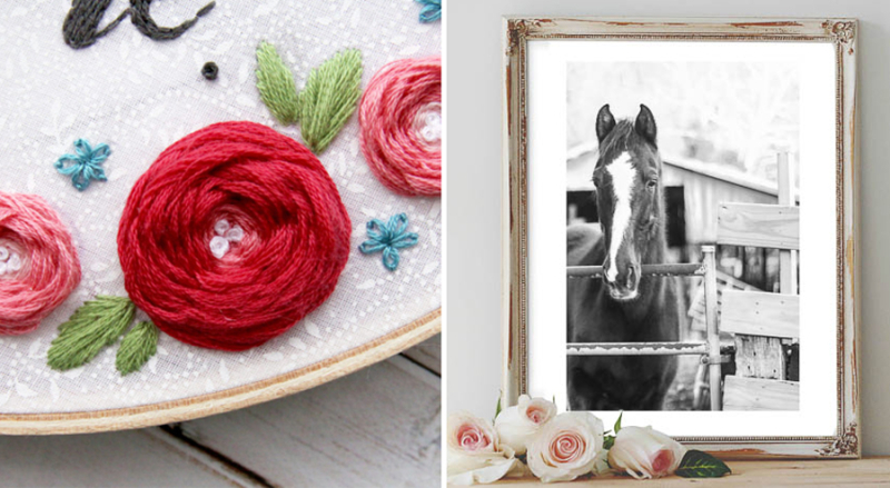 Woven roses embroidery tutorial free printable horse photo