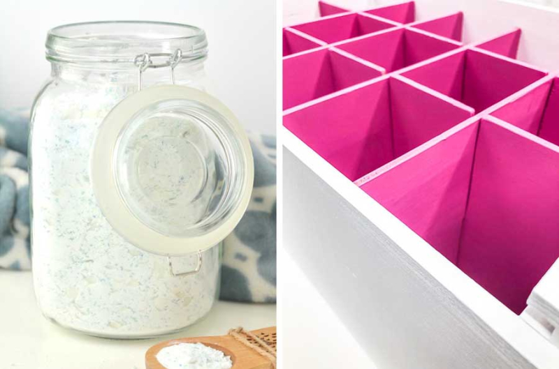 DIY laundry detergent DIY drawer dividers
