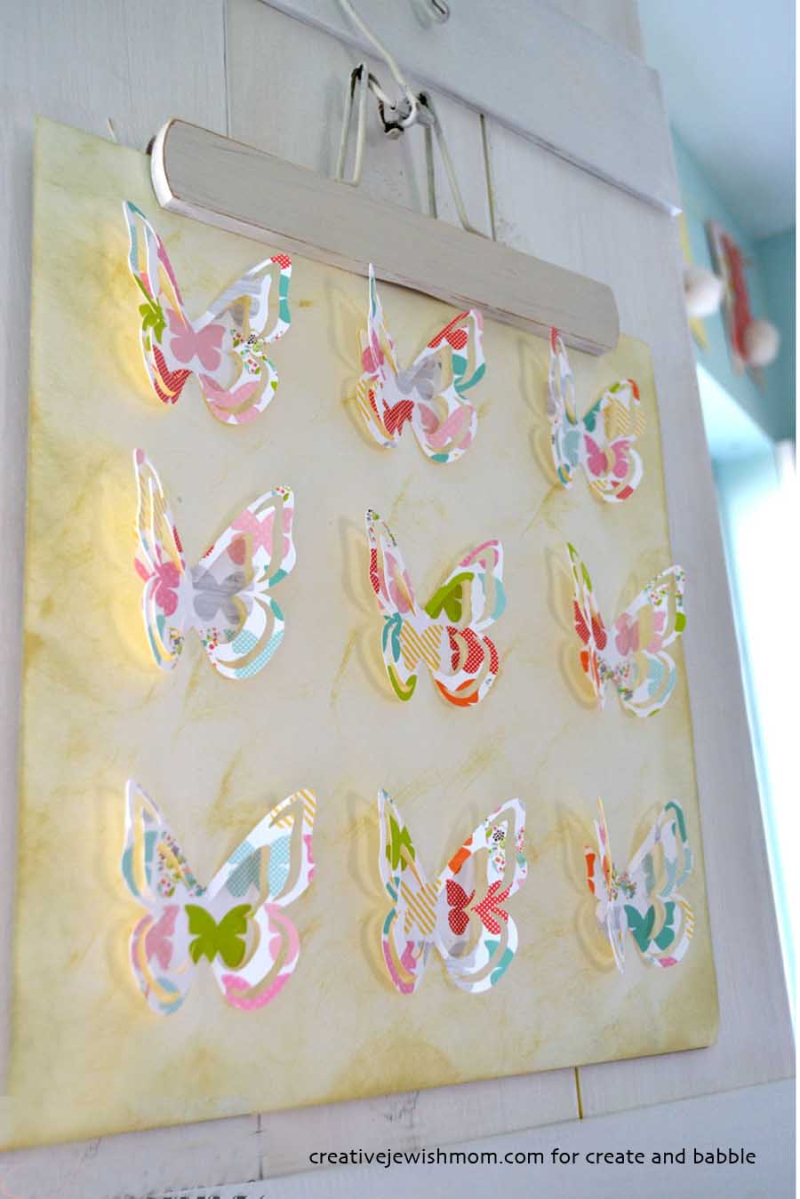 3D paper butterfly wall art