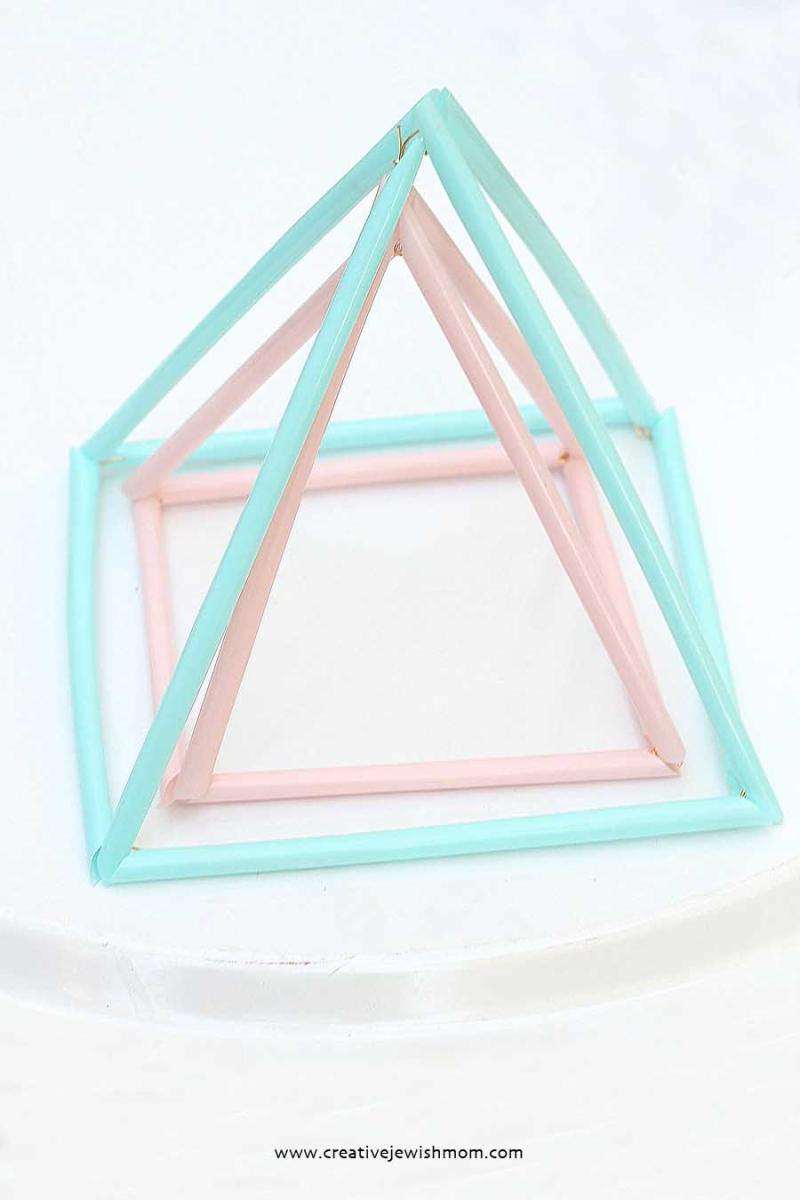 Passover Craft Pyramids From Drinking STraws
