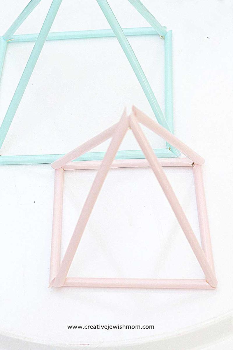 Drinking Straw Pyramid Centerpiece