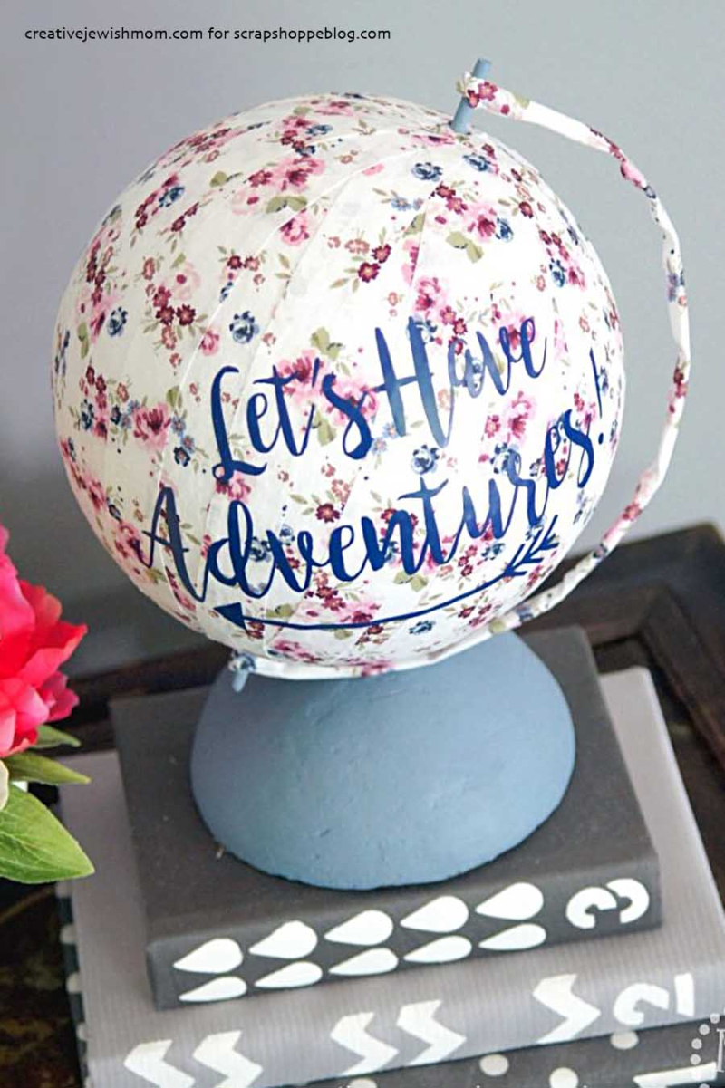 DIY fabric covered globe