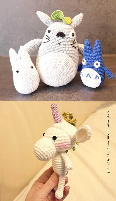 Crocheted-amigurumi-unicorn