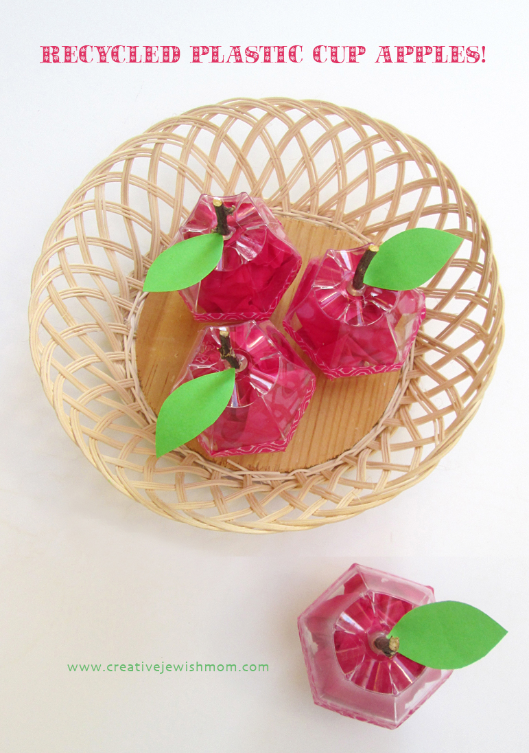 Recycled Plastic Cup Apples