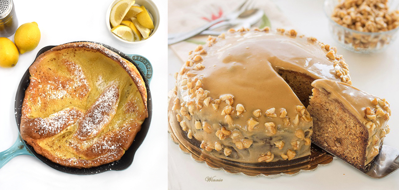 Dutch skillet cake,honey cake fancy