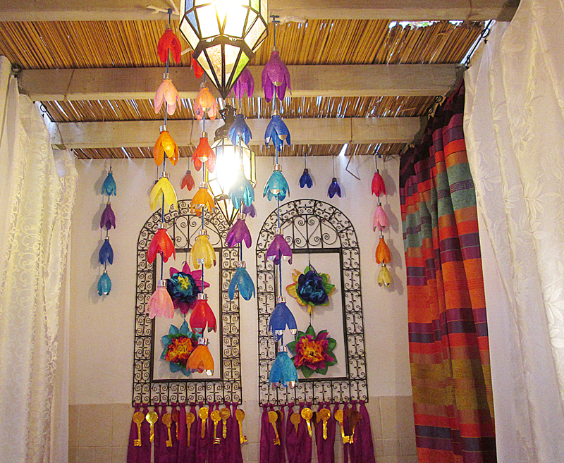 Succah Decorations With Soda Bottles 2014