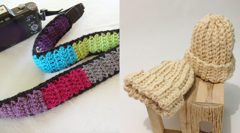 Crocheted camera strap,crochet premie hats
