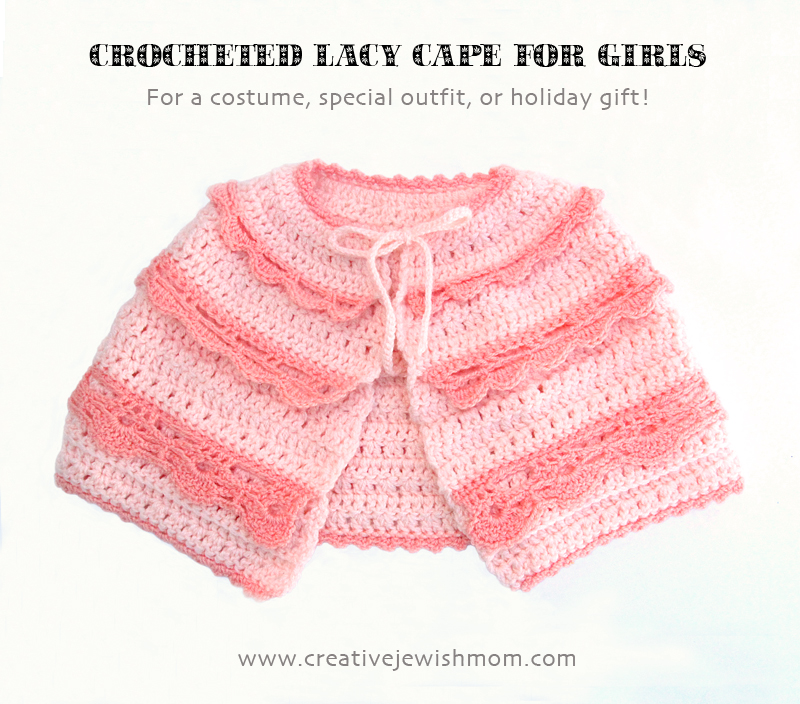 Crochet Lacy Cape For Girls