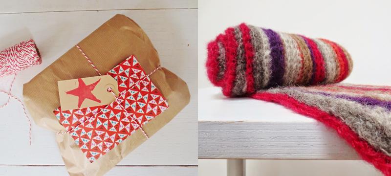 Crocheted striped alpaca yarn scarf